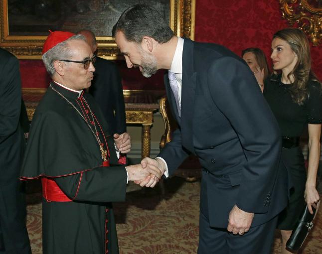 Santos Abril y el Rey Felipe