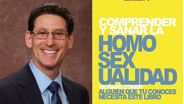 """Richard Cohen, autor de varios libros dirigidos a """"sanar"""" la homosexualidad."""